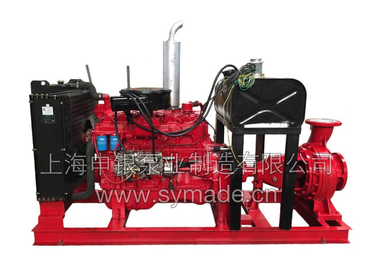 XBC型柴油机消防泵是上海申银泵业制造有限公司根据国内及国际消防用泵的市场需求和使用情况而自主研发生产的消防产品。该系列产品的使用效率高、运转寿命长、产品可靠性好,是目前国内及国际市场上消防工程、喷淋设施的首选消防泵产品。国家消防装备质量监督检测中心根据GB6245-2006《消防泵》的性能要求和实验方法测试,上海申银泵业制造有限公司产品达到国内领先水平,获消防局审批认可。 该系列柴油机消防泵产品输送介质为温度80以下清水或物理化学性质类似与水的液体。除供给消防工程使用的前提下,还可供生活、生产给水的